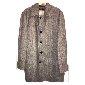Men's Pendleton wool tweed button coat sz 44